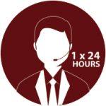 1x24 jam response time