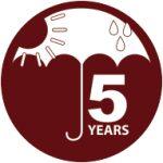 5 years anti fade colour