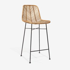 Kursi Bar Stool Rattan